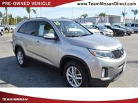 Options:  2015 Kia Sorento Lx|Silver/|V4 2.4 L