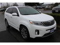 Snow White Pearl 2015 Kia Sorento SX AWD 6-Speed