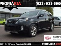 This is a dealer certified 2015 Kia Sorento SXL model