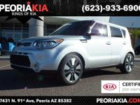 This is a dealer certified 2015 Kia Soul Exclaim model.