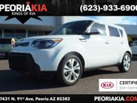 This is a dealer certified 2015 Kia Soul + model with a