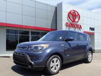CARFAX One-Owner. Blue 2015 Kia Soul + FWD 6-Speed