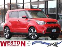 CARFAX One-Owner. 2015 Kia Soul Exclaim Inferno Red One