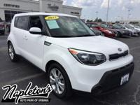 Recent Arrival! 2015 Kia Soul in Clear White, AUX