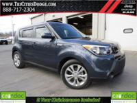 CARFAX One-Owner. Clean CARFAX. Blue 2015 Kia Soul +