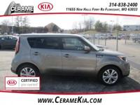 TITANIUM GRAY, KIA FACTORY CERTIFIED, CARPETED FLOOR