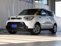 CARFAX One-Owner. Clean CARFAX. White 2015 Kia Soul FWD