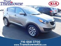 This 2015 Kia Sportage LX in Mineral Silver features: