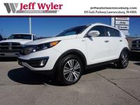 CARFAX One-Owner. Clean CARFAX. Clear White 2015 Kia