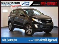 Black Cherry 2015 Kia Sportage EX AWD 6-Speed Automatic