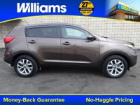 Options:  2015 Kia Sportage Lx|Sand Track|Clean Vehicle