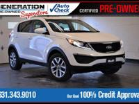 White 2015 Kia Sportage LX FWD 6-Speed Automatic 2.4L