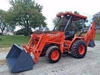 KUBOTA L35 DIESEL BACKHOE TRACTOR LOADER WITH 3 POINT