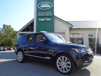 2015 Range Rover 5.0 Supercharged. One-Owner! This