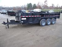 "(989) 607-4841 ext.617 83"" x 18' Open Dump Triple Axle"