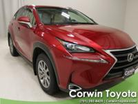 New Price! 2015 Matador Red Mica Lexus NX 200t CARFAX