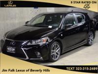 Options:  2015 Lexus Ct 200H|Black|Low