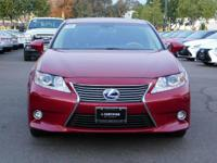 Options:  2015 Lexus Es 300H Hybrid|Red/Black|V4 2.5 L
