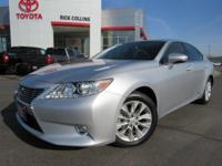 This 2015 Lexus ES 300 comes equipped with heated and