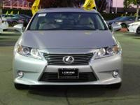 Options:  2015 Lexus Es 350|Silver/Light Gray|V6 3.5L