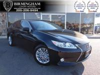 PRE-OWNED 2015 LEXUS ES 350 --BLACK AND BEIGE-- CARFAX