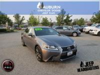 LOW MILES, LEATHER, MOON ROOF!!!  This 2015 Lexus GS