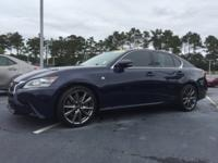 New Price! Clean CARFAX. Meteor Blue Mica 2015 Lexus GS