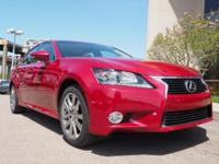 CARFAX One-Owner. Red 2015 Lexus GS 350 AWD 6-Speed