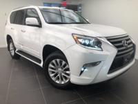 LOW MILES! CARFAX One-Owner. Pearl White 2015 Lexus GX