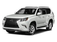 Climb inside this L/Certified 2015 Lexus GX 460. This