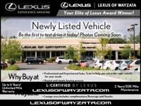 L/CERTIFIED BY LEXUS! 1 Owner! Equipped with the Luxury