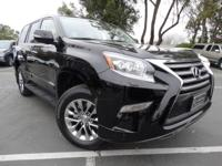 Clean CARFAX. BLACK 2015 Lexus GX 460 Luxury 4WD