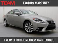 Immaculate 2015 Lexus IS 250 Premium Package That