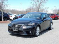 2015 Certified Lexus IS 250 AWD with Leather, Heated &