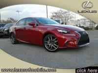 Climb inside this L/Certified 2015 Lexus IS 250. This