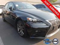 2015 LEXUS IS250 F SPORT Black w/Rioja Red Leather Seat