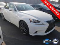 2015 Lexus IS 250 F SPORT Ultra White W/Rioja Red F