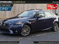 This 2015 Lexus IS 250 4dr features a 2.5L V6 CYLINDER