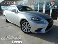 This Lexus IS 250 AWD has a powerful Premium Unleaded