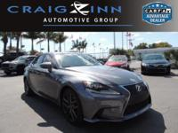 CarFax 1-Owner, LOW MILES, This 2015 Lexus IS 250 BLACK
