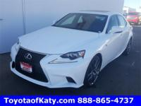 Options:  2015 Lexus Is 250|White|Leather And Push