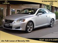 Options:  2015 Lexus Is 250 C|Silver|Luxury