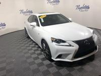 2015 Lexus IS White Clean CARFAX.  KBB Fair Market