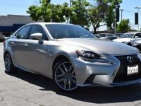 Clean CARFAX. Certified. Silver 2015 Lexus IS 350 RWD