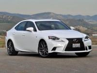 2015 Lexus IS 350 F Sport. Nav! Gasoline! To save you