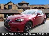 Gorgeous Matador Red Lexus IS350! F SPORT Package with