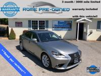 Clean CARFAX. Gray 2015 Lexus IS 250 AWD 6-Speed