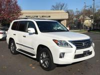 Options:  2015 Lexus Lx 570|Starfire Pearl/Black|V8 5.7