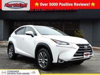 CARFAX One-Owner. Eminent White 2015 Lexus NX 200t AWD