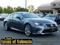 Options:  2015 Lexus Rc 350|Gray/Black|V6 3.5 L